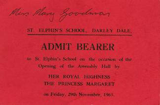 Invitation to the opening of the dining room