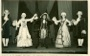 Image 1 of 4: LtoR: Marco (Anne Carson), Casilda (Joyce Scott), Duke (Jill Schanchieff), Duchess (Ruth Parsons), Giuseppe (Anne Widdows) on the stage in Bakewell Town Hall July 1950