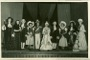 Image 4 of 4: LtoR: The Grand Inquisitor (?), Inez (?), Marco, Gianetta (Gabrielle Toke), Luis, Casilda, Guiseppi, Tessa (Margaret Edwards), Duke (?), Duchess (?) at Bakewell Town Hall - July 14th & 15th 1950