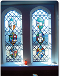 St Elphin's School chapel windows photo