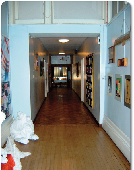 St Elphin's School dining room corridor photo